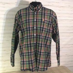 Cinch Men's Plaid Shirt Size Large 100% Cotton